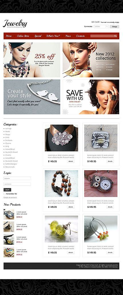 45 Best Images About Jewelery Website Templates On Pinterest Shops Jewelry Stores And Costume Jewelry Store Website Template