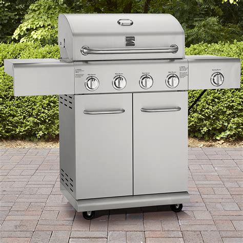 Stainless Gas Grill by Kenmore 4 Burner Stainless Steel Gas Grill