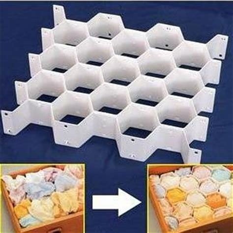 Sock Dividers For Drawers by White Honeycomb Sock Underpant Closet Drawer Divider