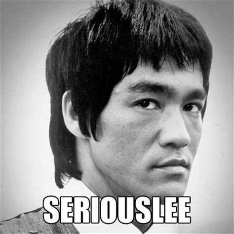 Seriously Meme Face - funny bruce lee dump a day