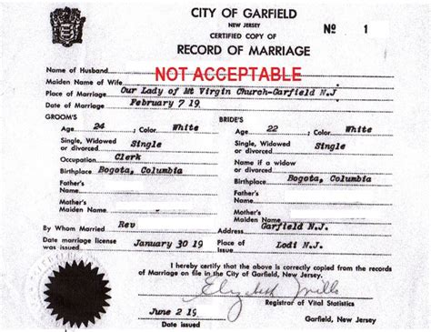 Records In Nj New Jersey Marriage Certificate With An Apostille