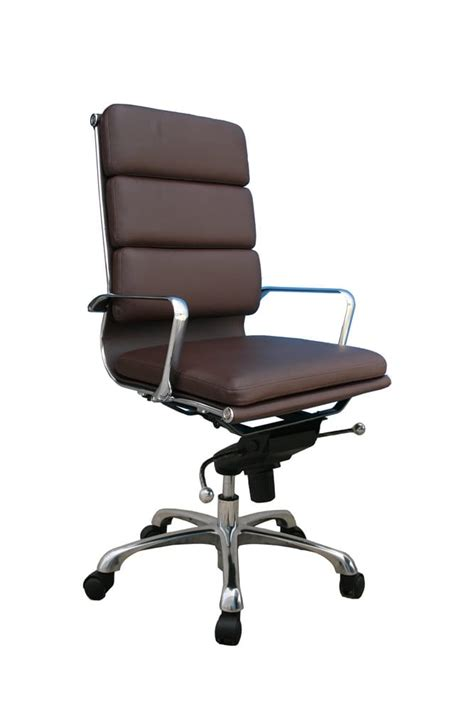 plush office chair plush high back office chair brown by j m