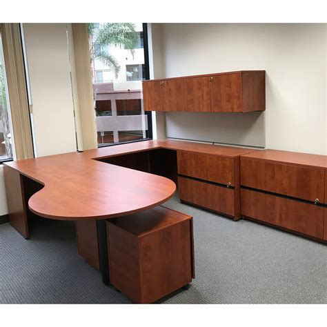 P Desk by Steelcase Payback Used Right Return P Top Desk Cherry