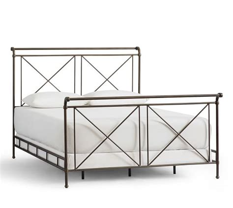 pottery barn iron bed loleta iron sleigh bed pottery barn