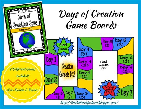 Elc Puzzle And Gameboard Days Of The Week the creation for day 3 days of creation printable