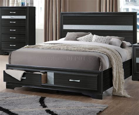 5pc bedroom set naima bedroom set 5pc 25900 in black by acme w storage bed