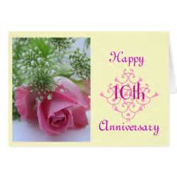 10th wedding anniversary greeting card zazzle