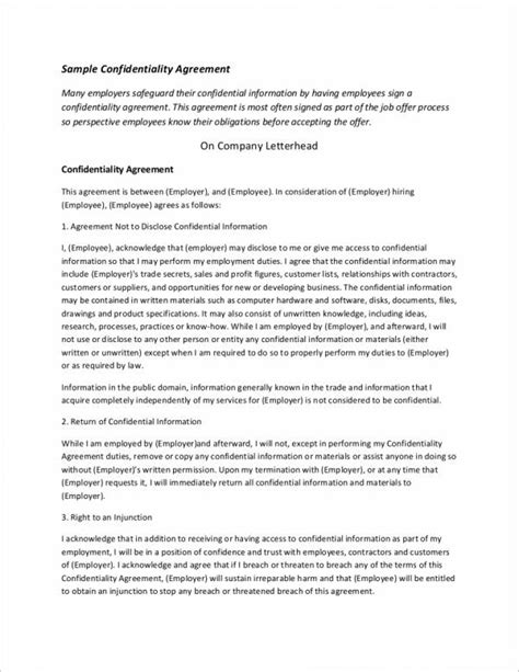 proprietary information agreement template 100 7 proprietary information agreement template
