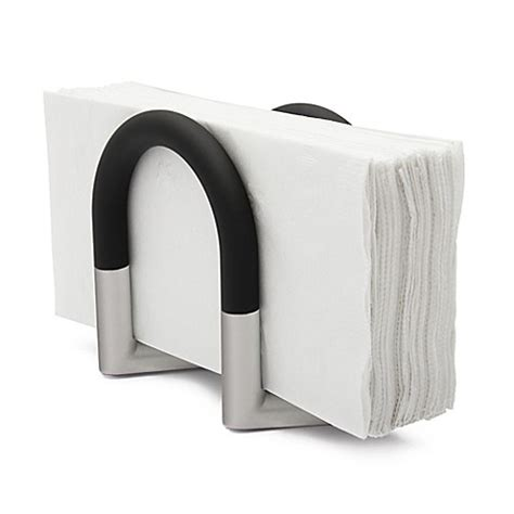 bathroom napkin tray umbra 174 squeeze napkin holder in nickel bed bath beyond