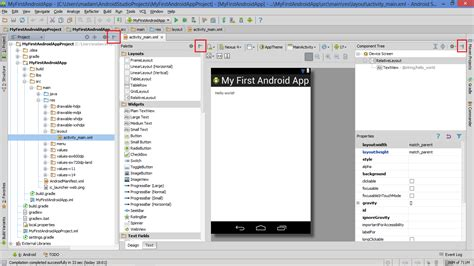 layout view basic information about project structure and android