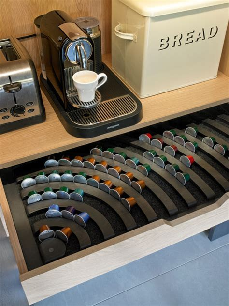 Nespresso drawer   Contemporary   Kitchen   London   by