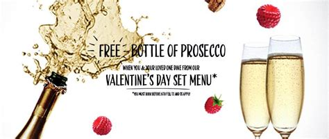 pizza express valentines day free bottle of prosecco when you book dine from the