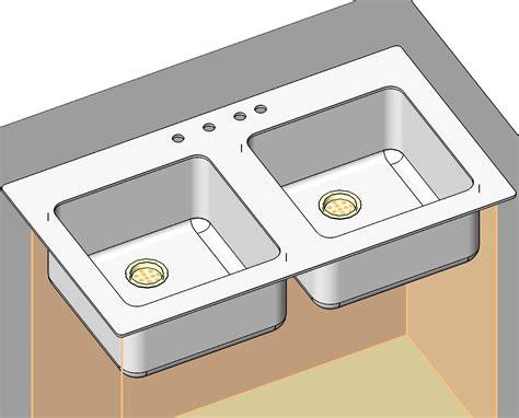 4 Piece Kitchen Faucet Generic Residential Plumbing Fixtures Bim Objects Families