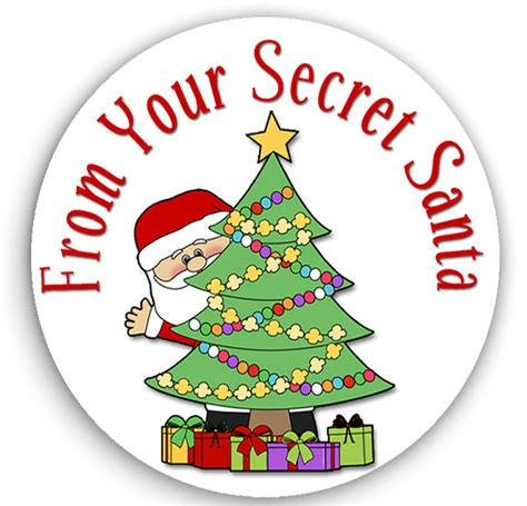 Gift Card Stickers - 24 stickers secret santa stickers christmas gift tags
