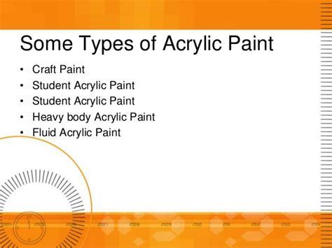 types of acrylic paint acrylic paint