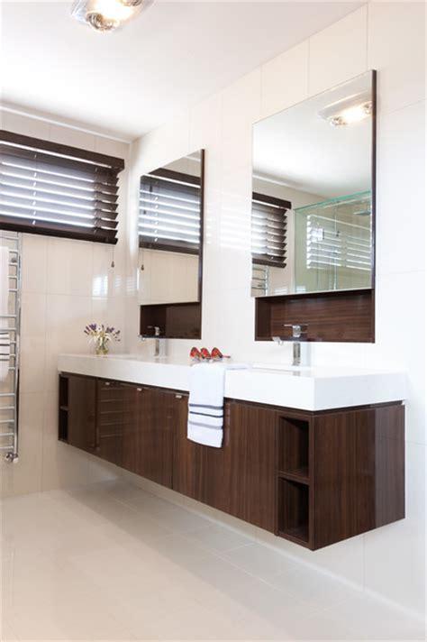 quartet designer large mirrored bathroom cabinet 2 colours bathroom modern bathroom melbourne by orbit homes