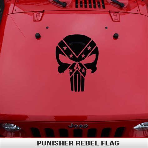 jeep rebel flag punisher rebel flag hood decal alphavinyl