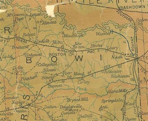 where is bowie texas on a map bowie county texas