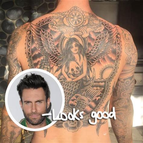 adam levine back tattoo singer adam levine pictures to pin on