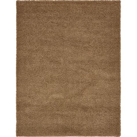 Solid Brown Area Rug Unique Loom Solid Shag Brown 12 Ft X 15 Ft Area Rug 3136693 The Home Depot
