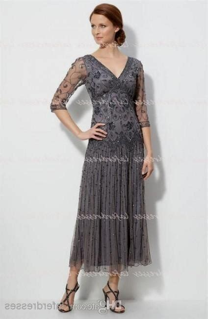 mother of the bride dresses tea length silver 2016 2017