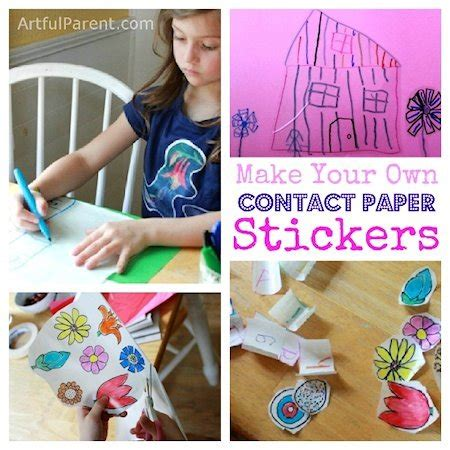 Make Your Own Sticker Paper - make your own contact paper stickers with lesson plans