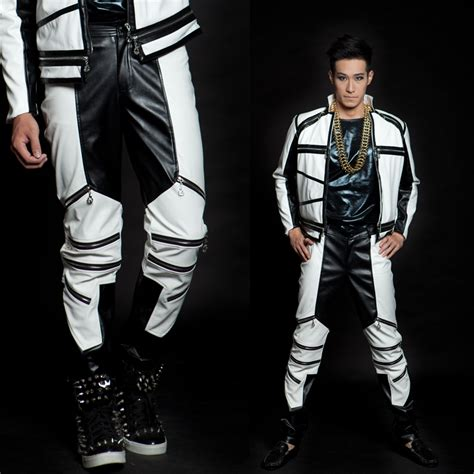 Quickslver Leather Black List White black white color block zipper 1 splice pu faux leather for trousers popular 1 1