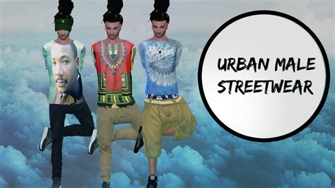 the sims 4 urban cc finds 3 male hair beats by dre sims 4 cas urban male streetwear youtube