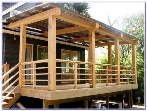 building a deck railing ideas and balcony over flat roof