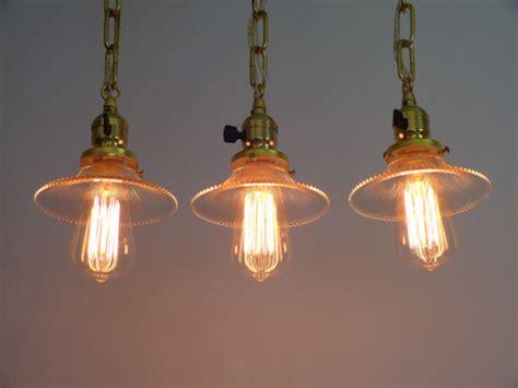 3 Socket Light Fixture 3 Polished Brass Pendant Light Fixtures Weber Turn Key Sockets Pagoda Shades Rewired Antiques