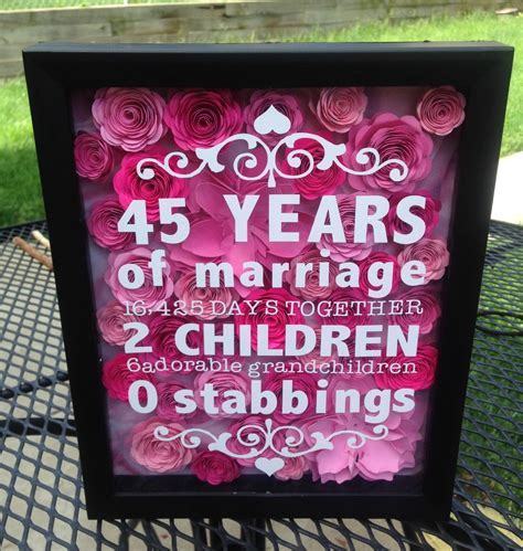 8 x 10 flower shadow box   anniversary gift   wedding gift