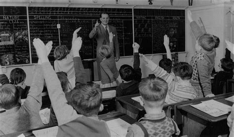 film education up teacher grade 3 discussing film just seen 1954 flickr