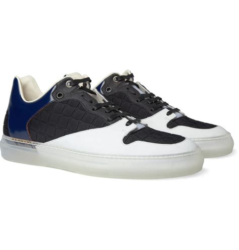Sepatu Balenciaga S balenciaga panelled leather sneakers fashion s shoes leather sneakers and shoes