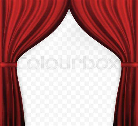 naturalistic image  curtain open stock vector