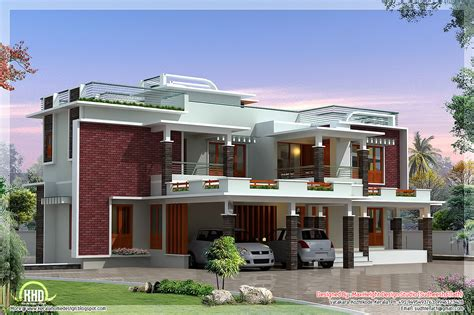 Modern Villa Plans by 4500 Sq Feet Modern Unique Villa Design House Design Plans