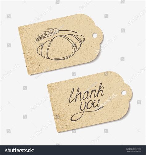 Craft Paper Tags - craft paper tags with thank you lettering and