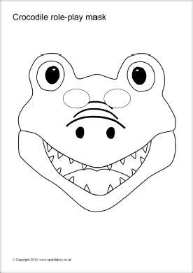 crocodile mask template crocodile play masks sb1488 sparklebox