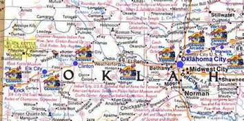 Route 66 Oklahoma Map by Image Gallery Oklahoma Route 66 Detailed Map
