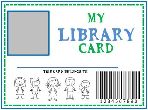 Silent Library Cards Template by Printable Library Card For Homeschooling