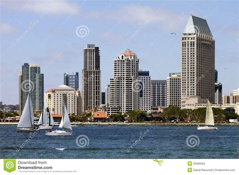 along with the gods in san diego sailing along the bay waterfront in san diego royalty free