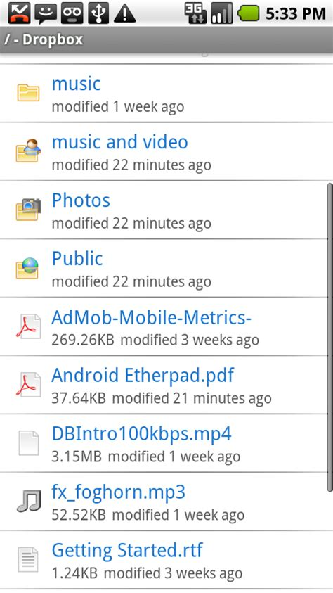dropbox for android dropbox android app gets updated with new useful features