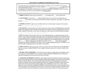 lease agreement template word rental agreement template free pdf word documents