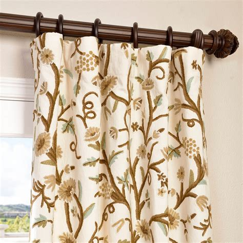 crewel curtains buy frances embroidered cotton crewel curtain drapes