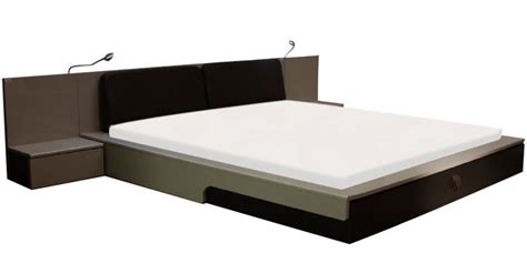Bedside Platform Bed flute platform king bed with bedside mobile unit by godrej