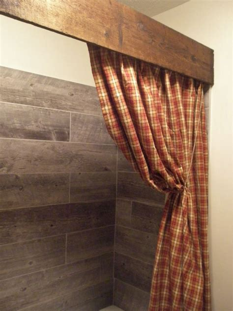 wood shower curtain rod best 20 primitive bathroom decor ideas on pinterest