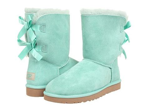 Light Blue Uggs With Bows by These Ugg Bailey Bow Surf Spray