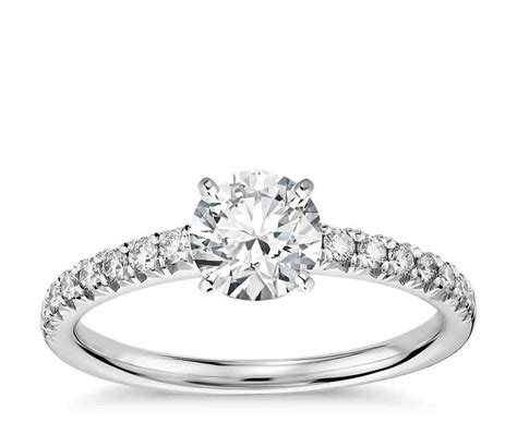 pave engagement rings pave engagement rings an infinity of diamonds wedding