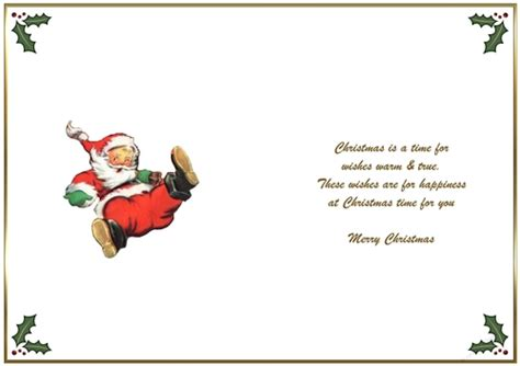 printable christmas card inserts inserts card making