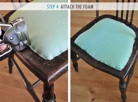 upholstering a chair seat cushion how to upholster a chair attached seat pad method the
