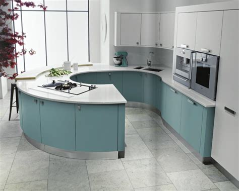curved kitchen islands curved kitchens cutting edge design the kitchen